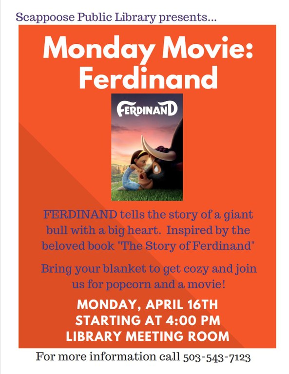 04.16.18 Monday movie Ferdinand.jpg