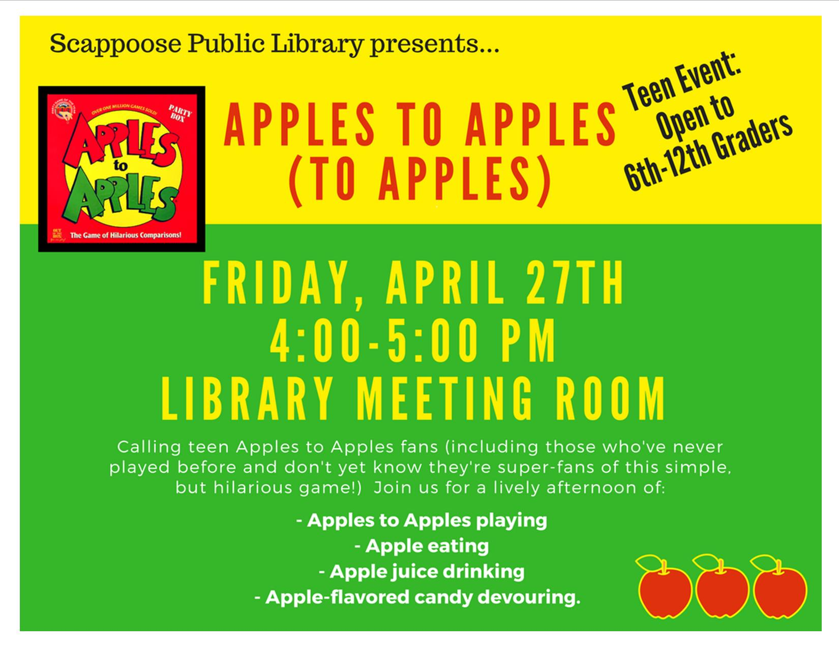 04.27.18 Teen Scene Apples to Apples to Apples.jpg