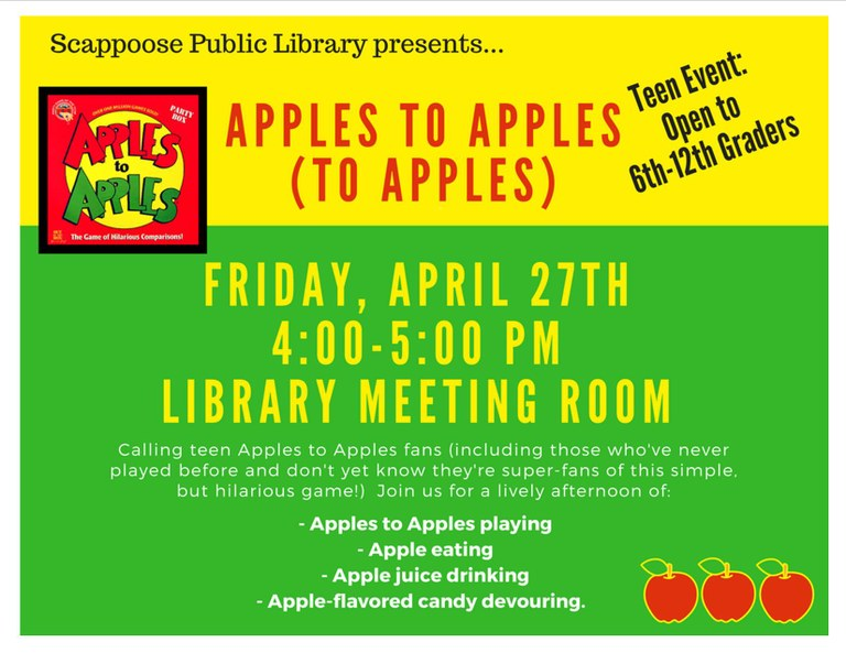 04.27.18 Teen Scene Apples to Apples to Apples.jpg
