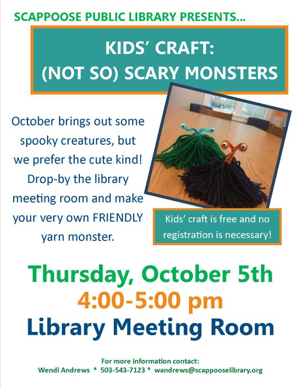10.05.17 KIDS CRAFT- Not so scary monsters.jpg