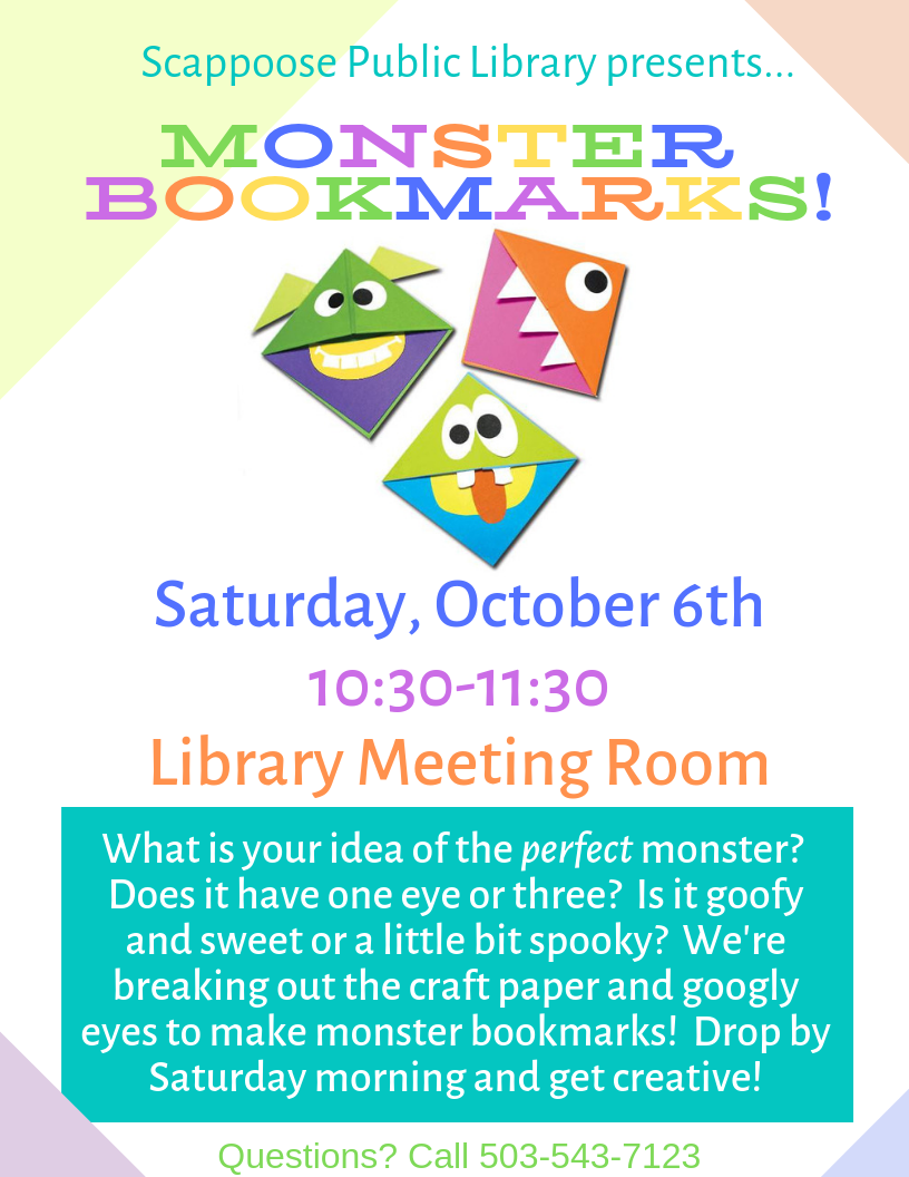 10.06.18 Saturday event Monster Bookmarks.png