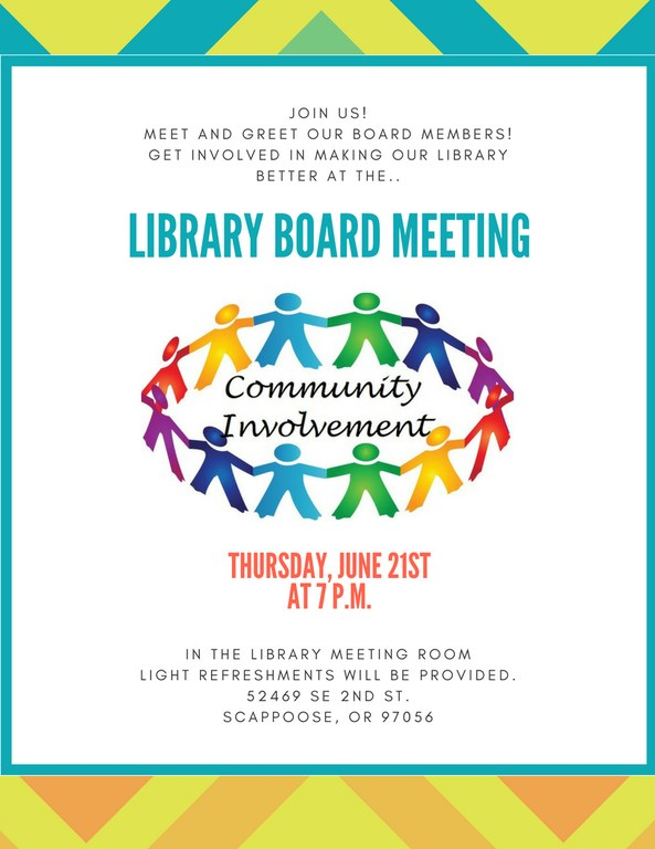 Join us!MEET AND GREET OUR BOARD MEMBERS!GET INVOLVED IN MAKING OUR LIBRARY BETTER AT THE...jpg