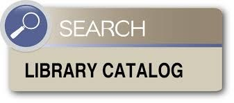 "A grey box with a magnifying glass that says ""Search Library Catalog""."